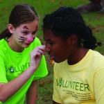 Girls Scouts face paint at Celebration Luncheon