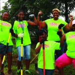 Girl Power at Recycle Center.