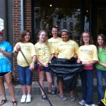 Downtown cleanup.