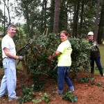 Archbold volunteers sprucing up The Treehouse.