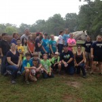 Big group of volunteers at Hands & Hearts for Horses.