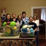 Volunteers made 60 comfort pillows for breast cancer patients