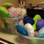 Comfort pillows made by HOTC Day volunteers ready for delivery to Archbold
