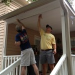 Painting the porch of historic home for Thomasville Landmarks