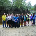 Merit students at the River Cleanup