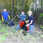 Merit students help clean up with KTCB