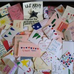 Some of the hundreds of cards made for Red Cross Mail for Heroes
