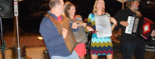 Playing the washboard